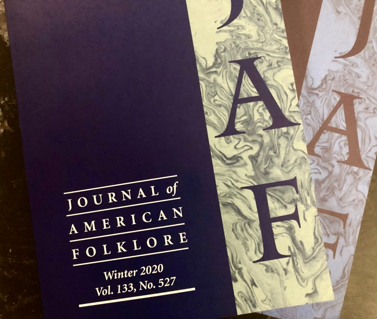 A photograph of the cover of the Journal of American folklore.