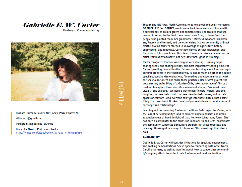 Artist profile for Gabrielle E.W. Carter (download file for full text)